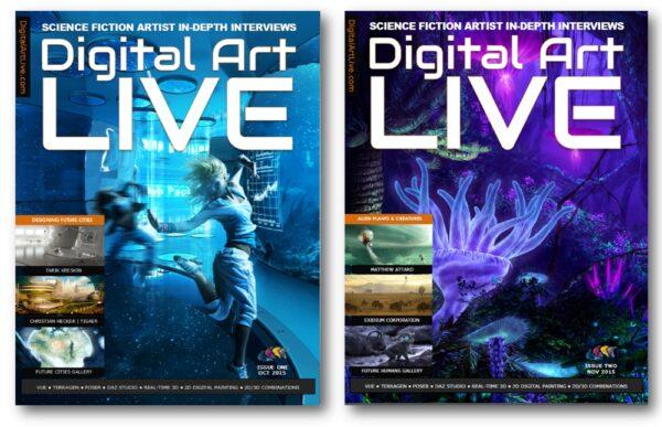 Digital Art Live Magazine Covers