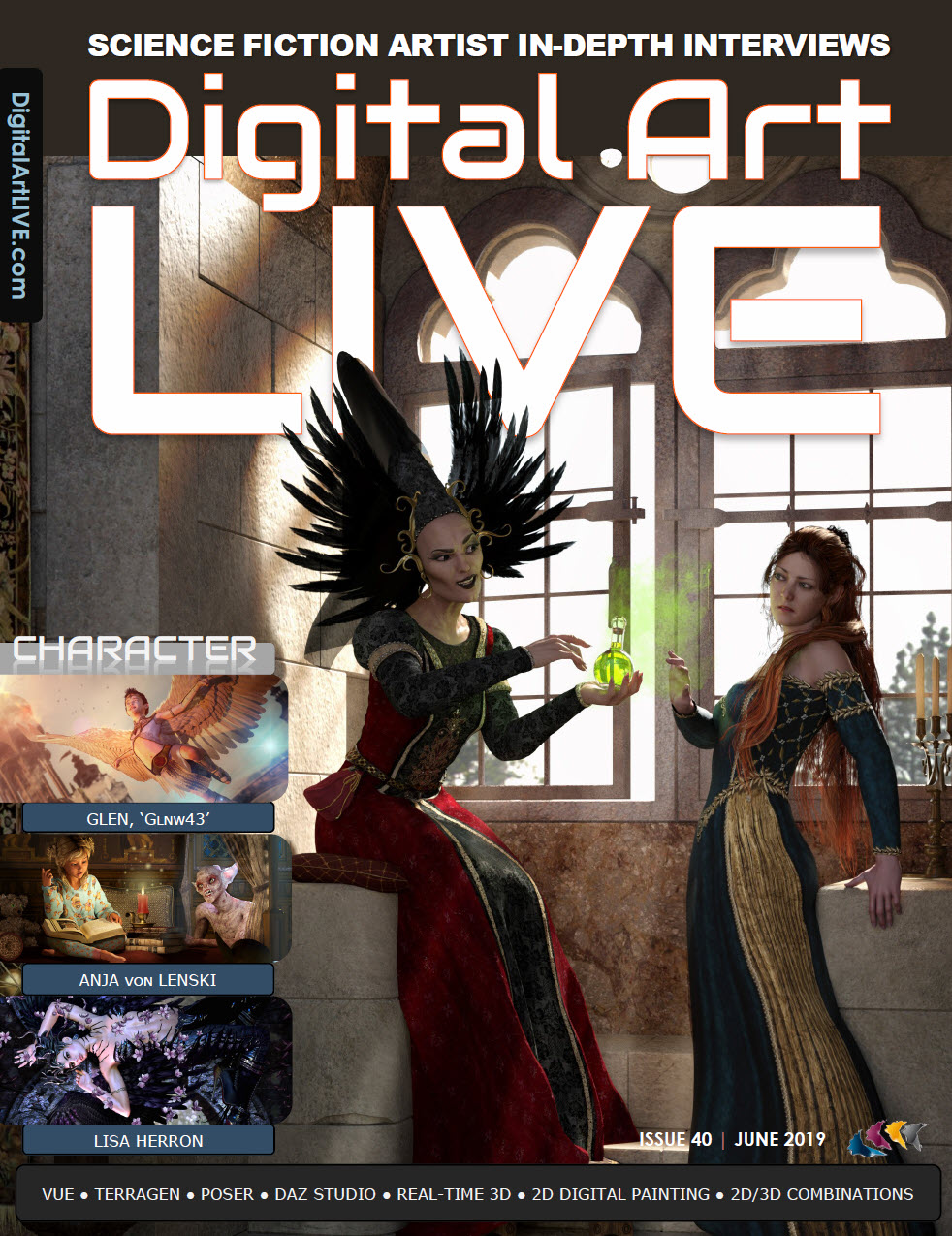 Read Issue 40 of Digital Art Live : Expressing Character