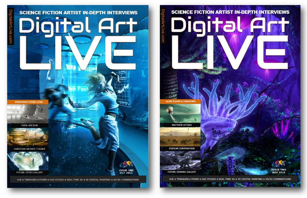 Digital Art Live Magazine Covers