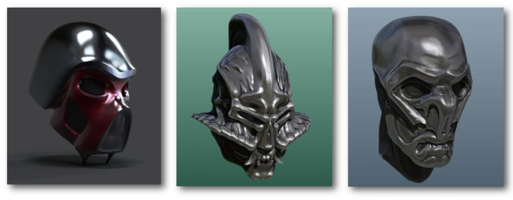 Armoured Helmets ZBrush