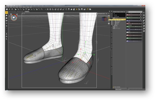 Rigging shoes in DAZ Studio