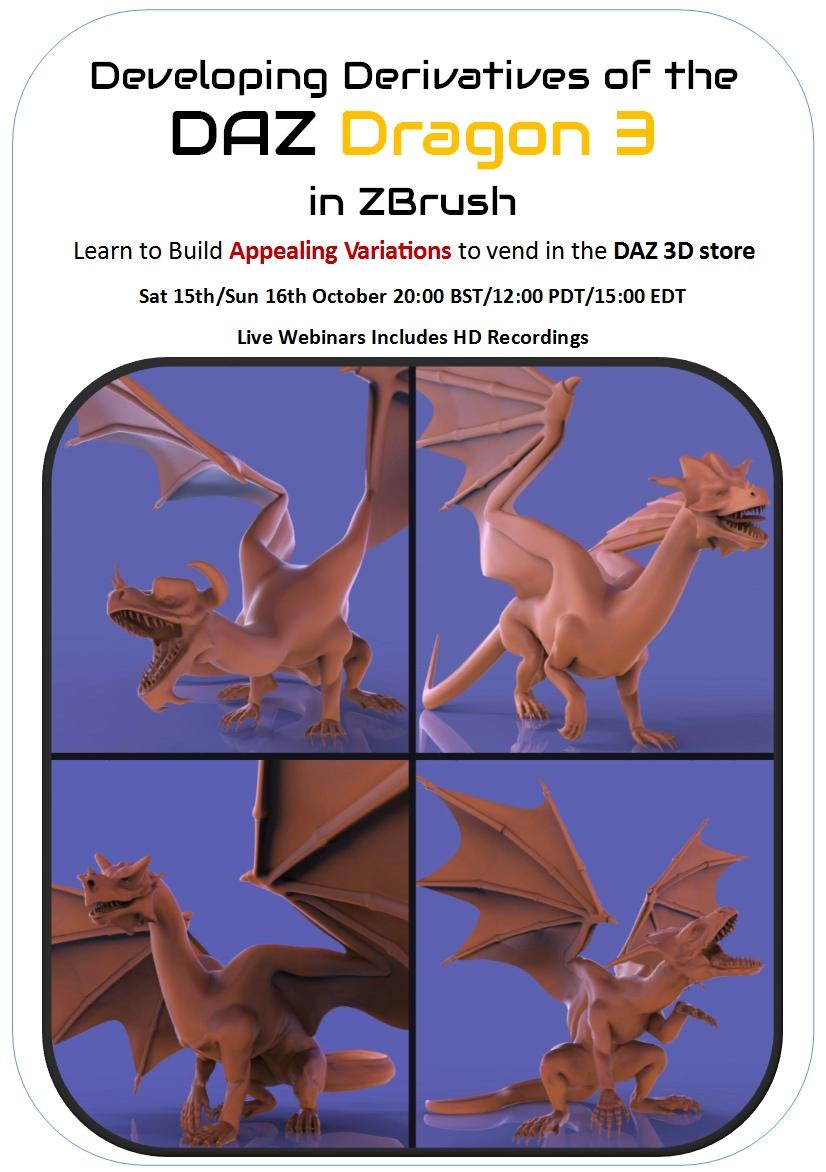 DAZ Dragon 3 in ZBrush