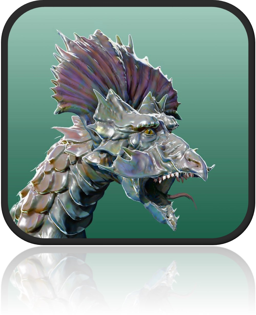dragongreenframed2