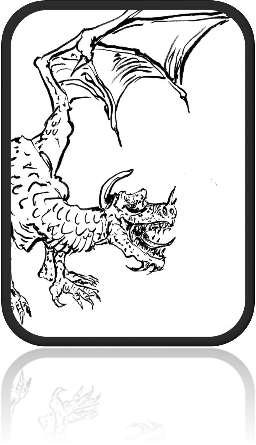 dragonpencilframed