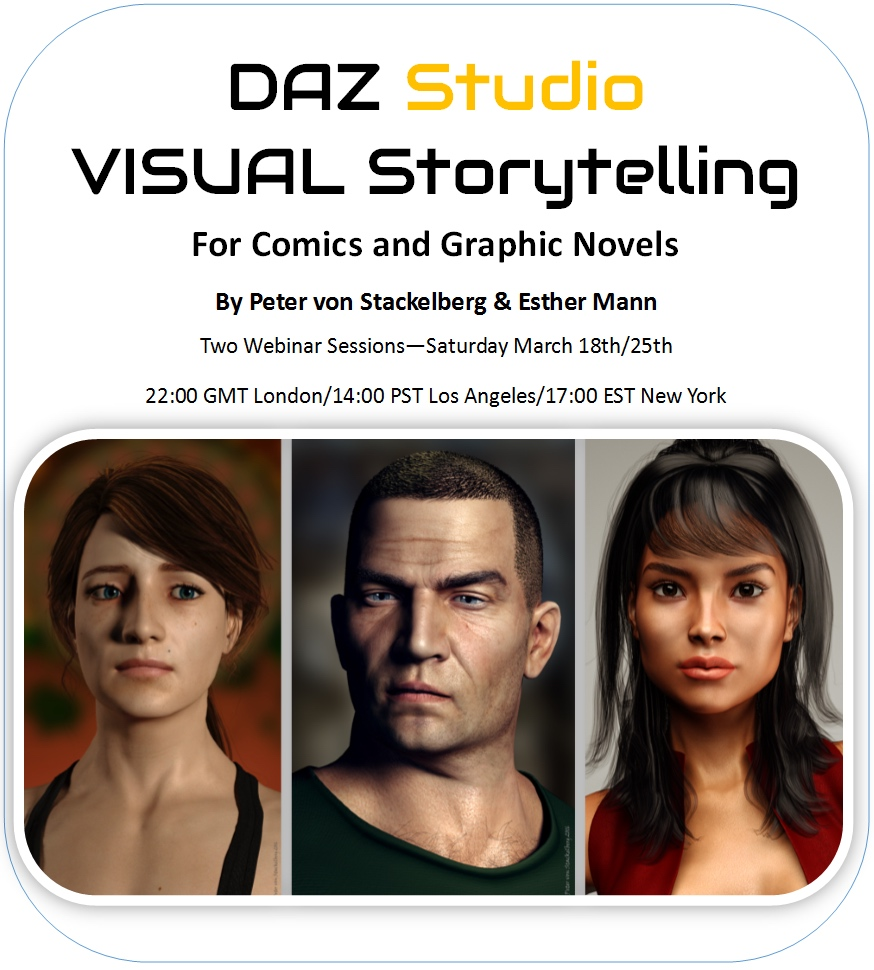 DAZ Studio Storytelling Comics Graphic Novels