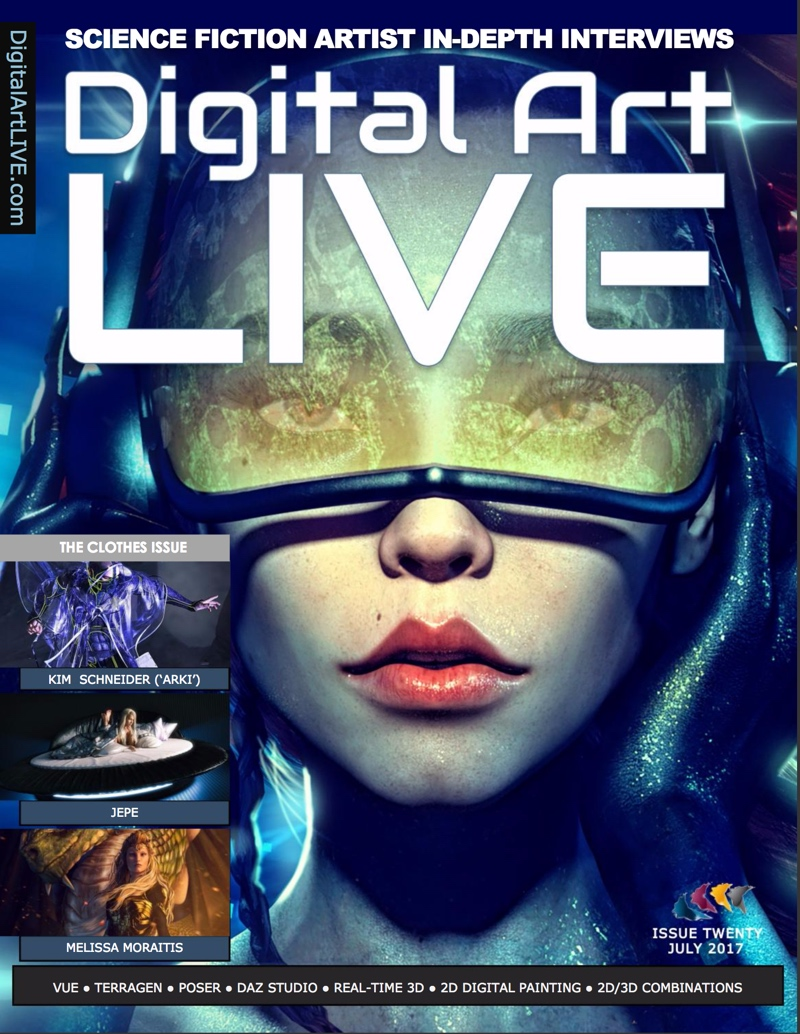 Cover of issue 20 of Digital Art Live