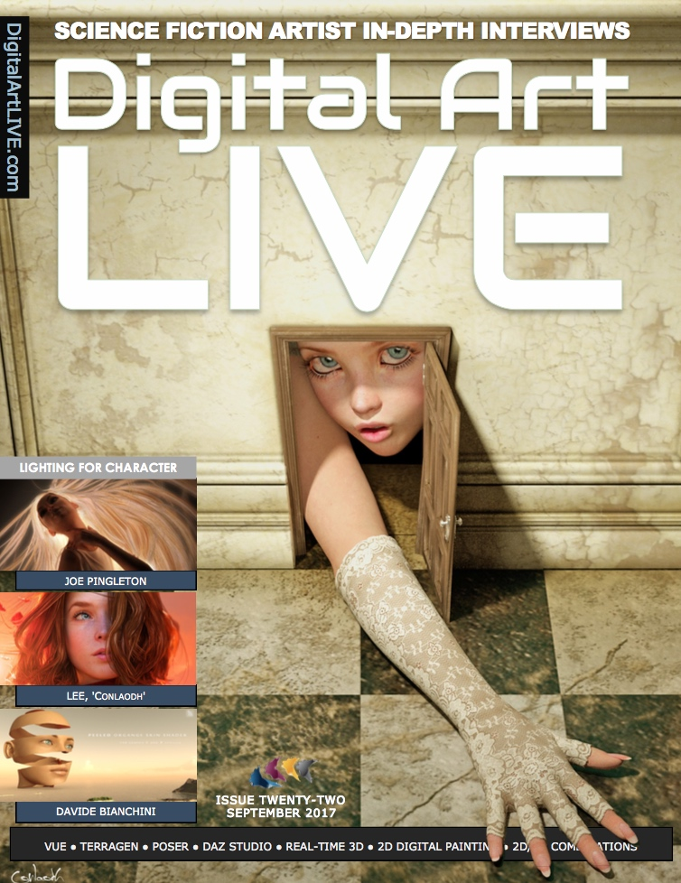 Issue 22 Cover of Digital Art Live