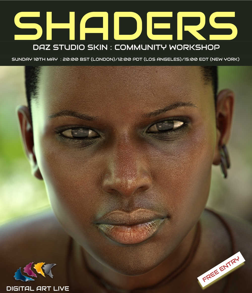 Shaders : DAZ Studio Iray skin shaders webinar event